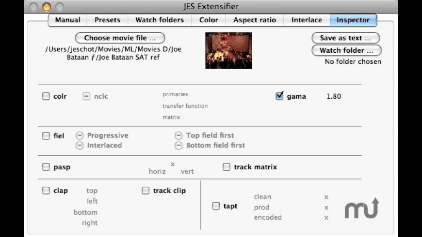 JES Extensifier for Mac - review, screenshots