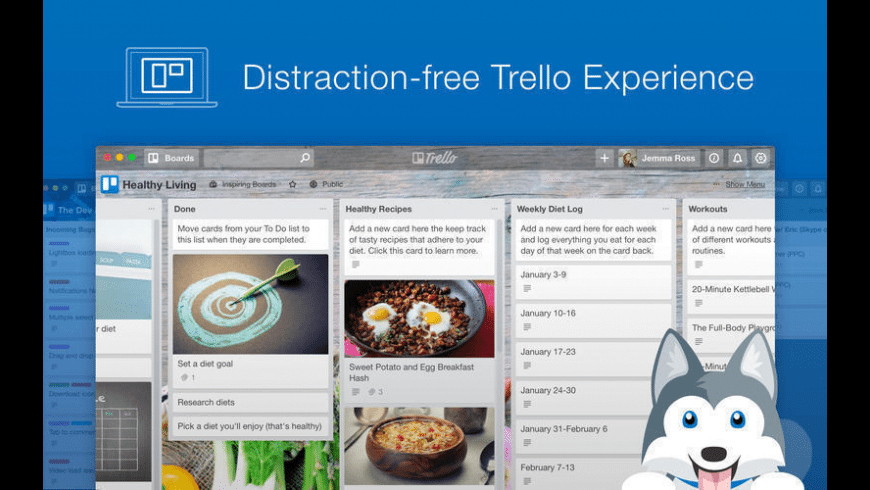 Paws for Trello for Mac - review, screenshots