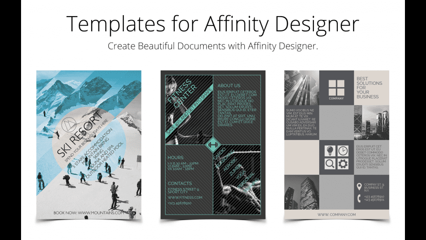Templates for Affinity Designer for Mac - review, screenshots