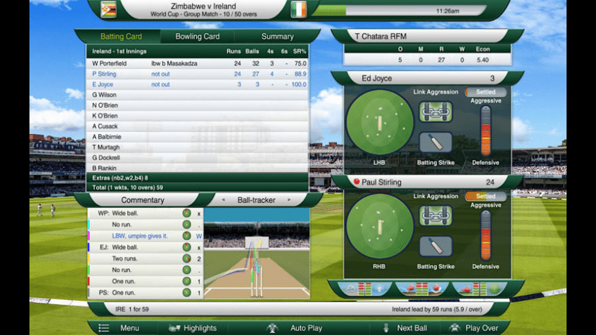 Cricket Captain 2016 for Mac - review, screenshots