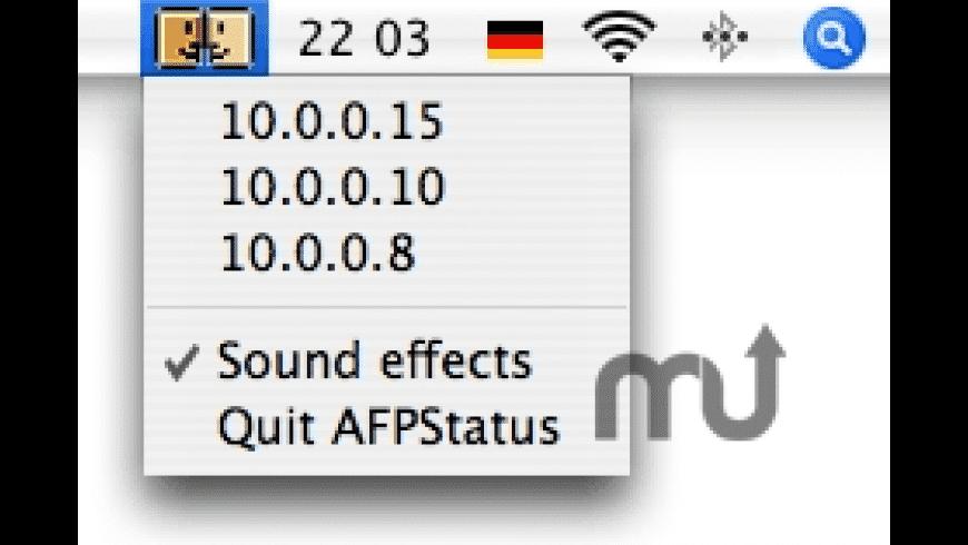 AFPStatus for Mac - review, screenshots