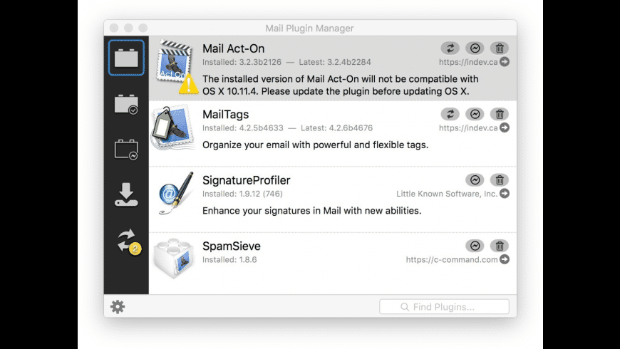 Mail Plugin Manager for Mac - review, screenshots