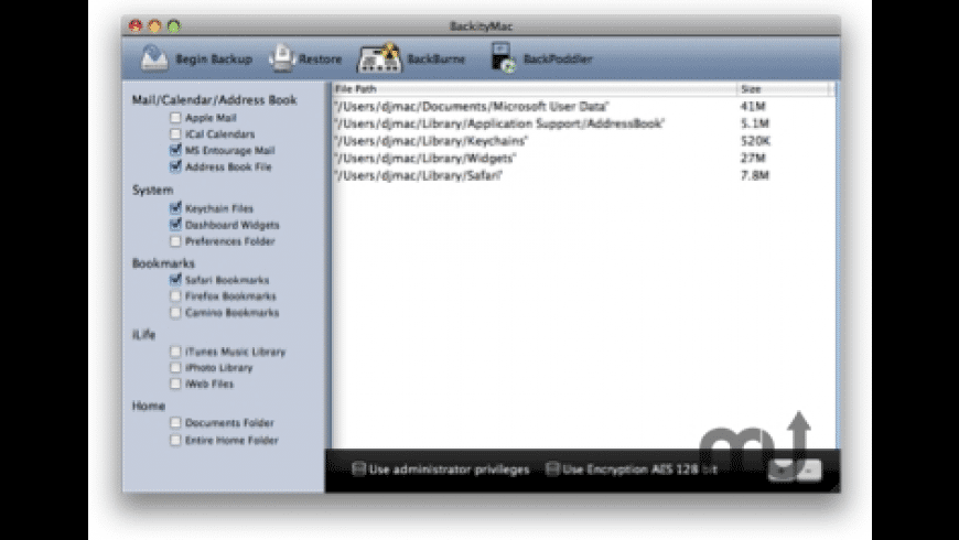 BackityMac for Mac - review, screenshots