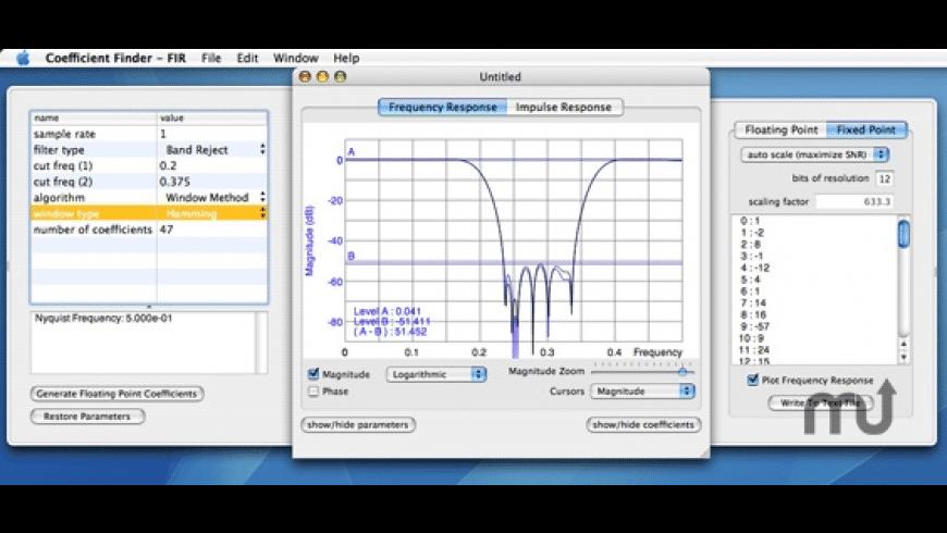 FIR Coefficient Finder for Mac - review, screenshots