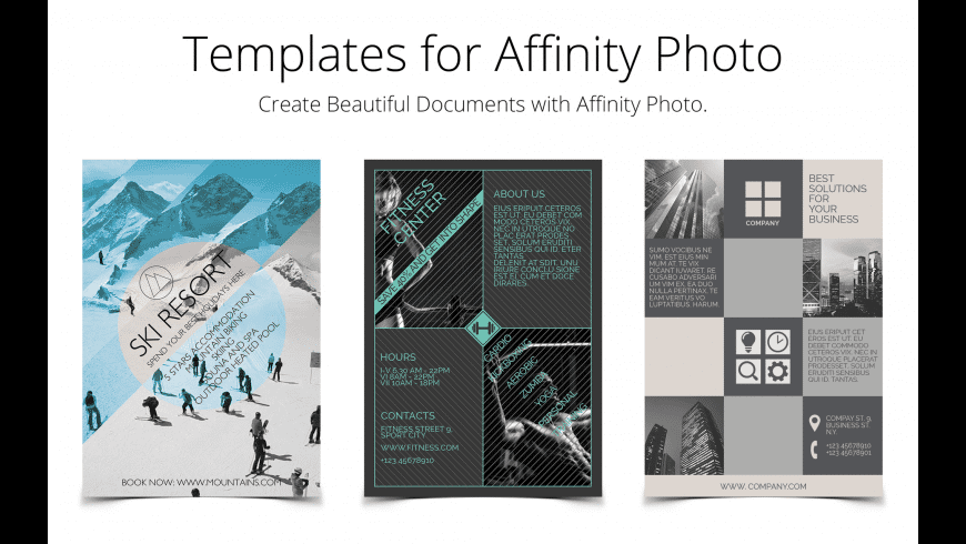 Templates for Affinity Photo for Mac - review, screenshots