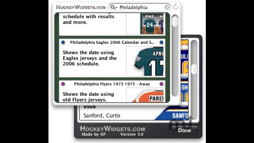 HockeyWidgets for Mac - review, screenshots