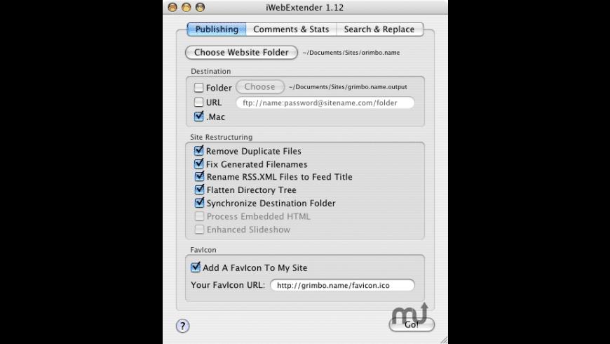 iWebExtender for Mac - review, screenshots