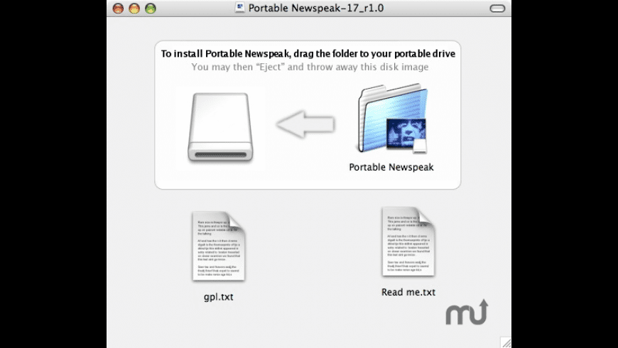 Portable Newspeak for Mac - review, screenshots