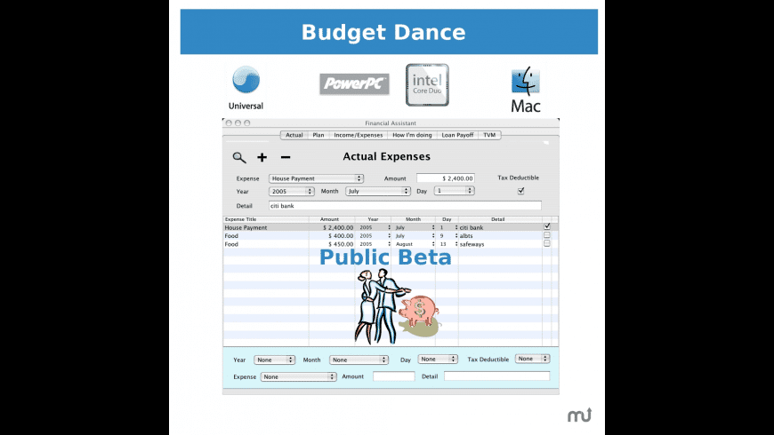 Budget Dance for Mac - review, screenshots