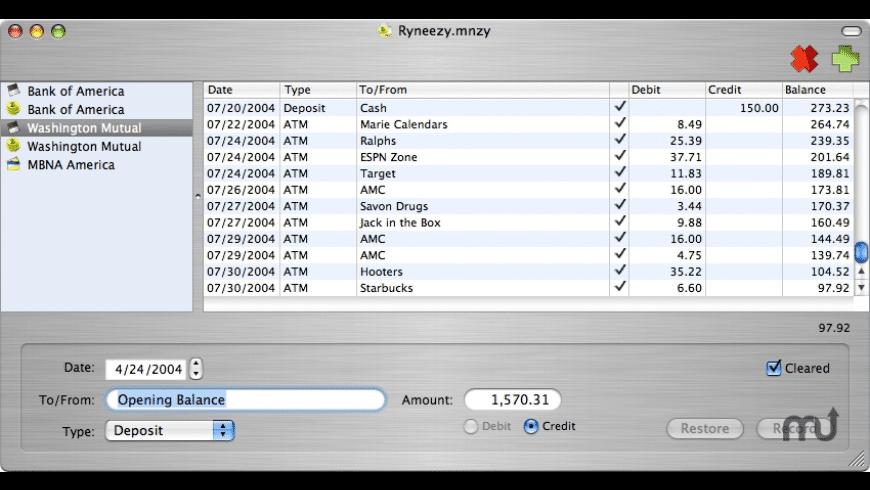MoneyEasy for Mac - review, screenshots