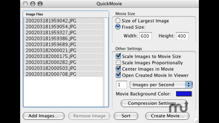 QuickMovie for Mac - review, screenshots