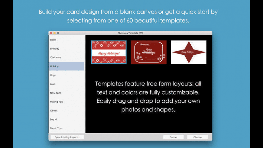 Blue Penguin eCard Templates for Mac - review, screenshots