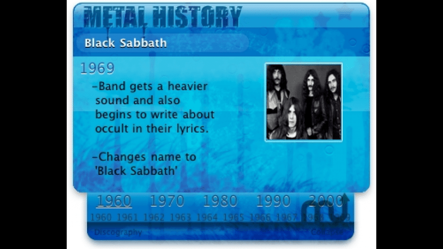 Metal History for Mac - review, screenshots