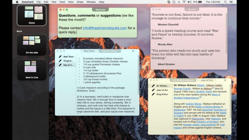 NoteCard for Mac - review, screenshots