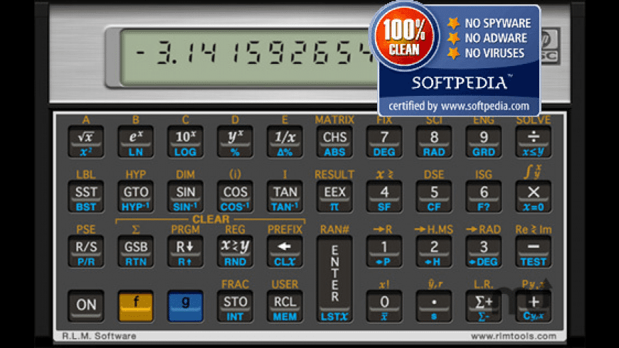 HP 15c Calculator for Mac - review, screenshots