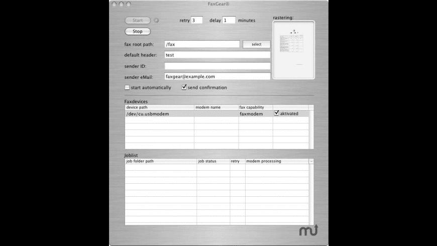 FaxGear for Mac - review, screenshots