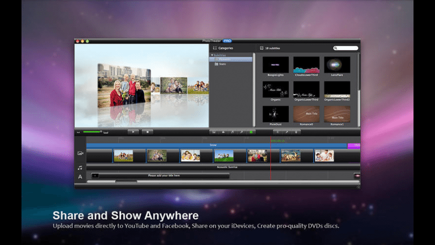 Photo Theater Pro for Mac - review, screenshots