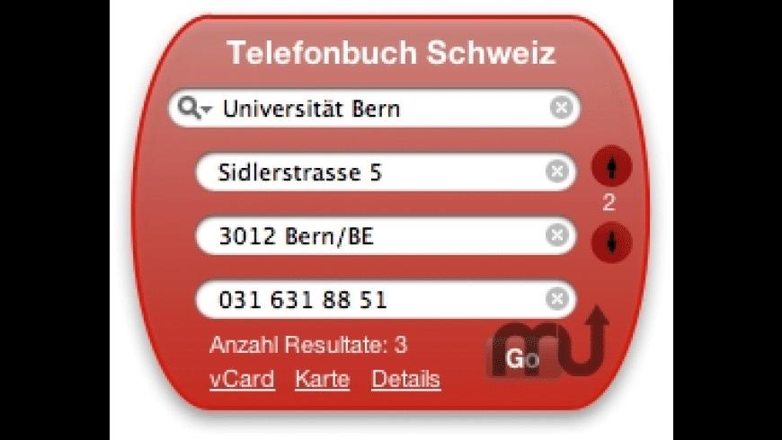 Swiss Phone Book for Mac - review, screenshots