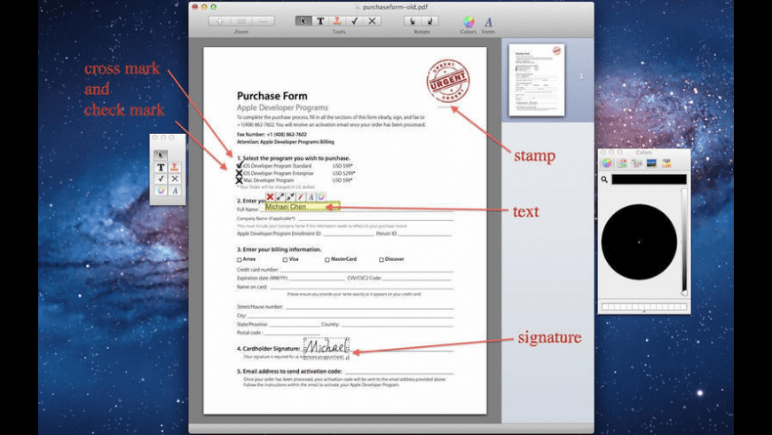 PDF Form Filler for Mac - review, screenshots