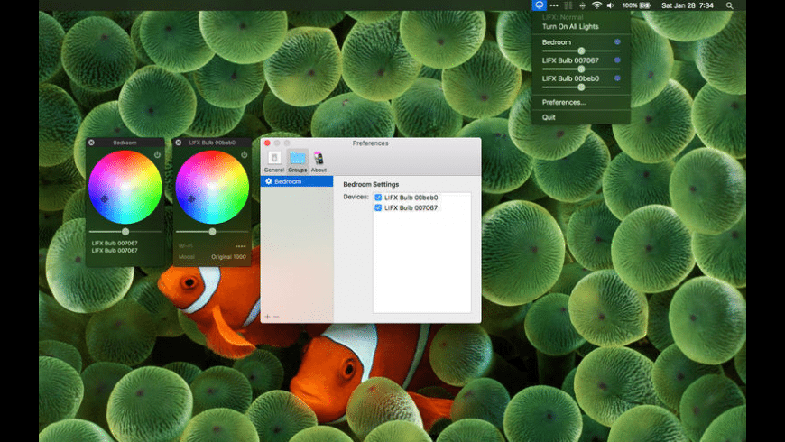 Remote Control for LIFX for Mac - review, screenshots