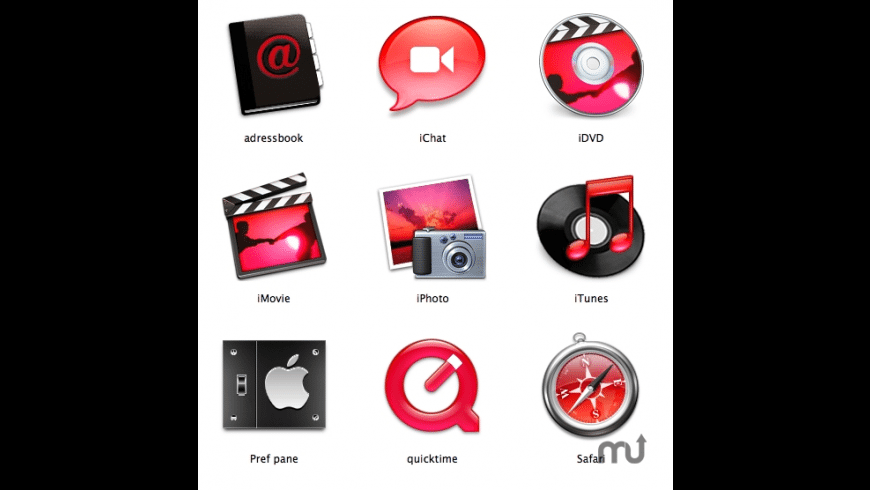 Red apple icons for Mac - review, screenshots