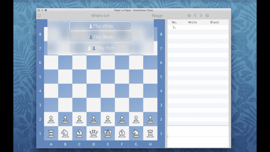 Snowflower Chess for Mac - review, screenshots