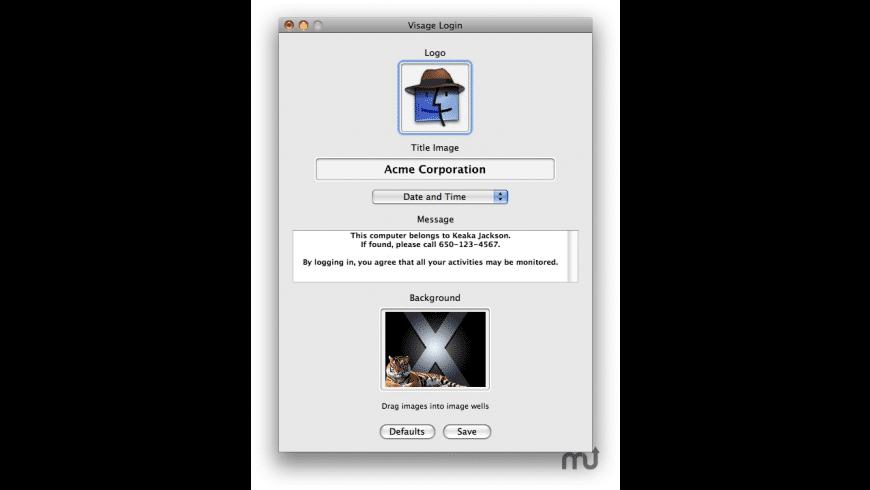 Visage Login for Mac - review, screenshots