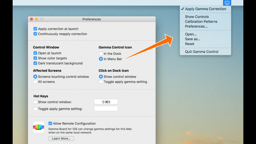 Gamma Control for Mac - review, screenshots