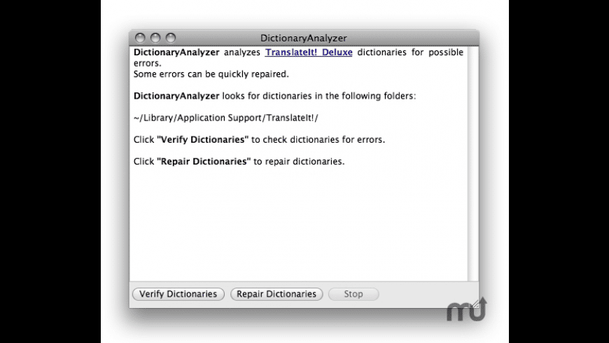 DictionaryAnalyzer for Mac - review, screenshots