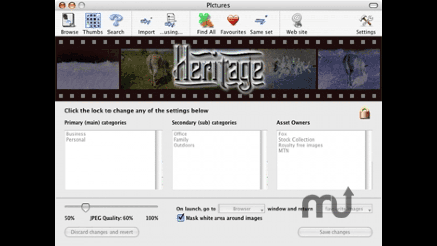 Heritage Image Asset Management System for Mac - review, screenshots
