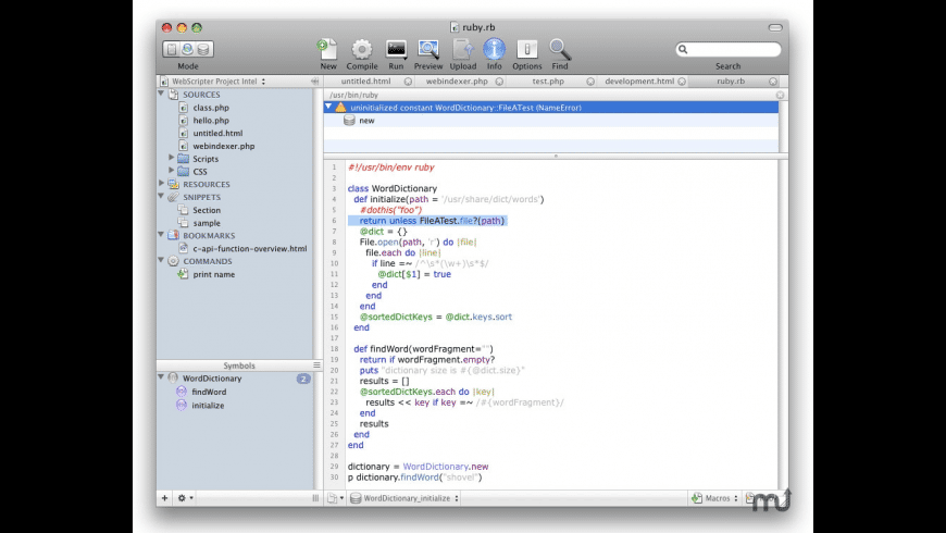 WebScripter for Mac - review, screenshots