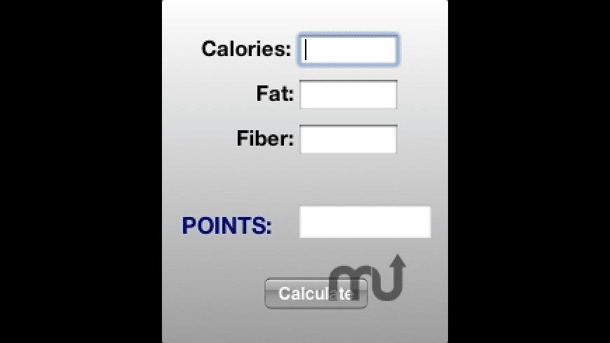 Weight Watchers Widget for Mac - review, screenshots