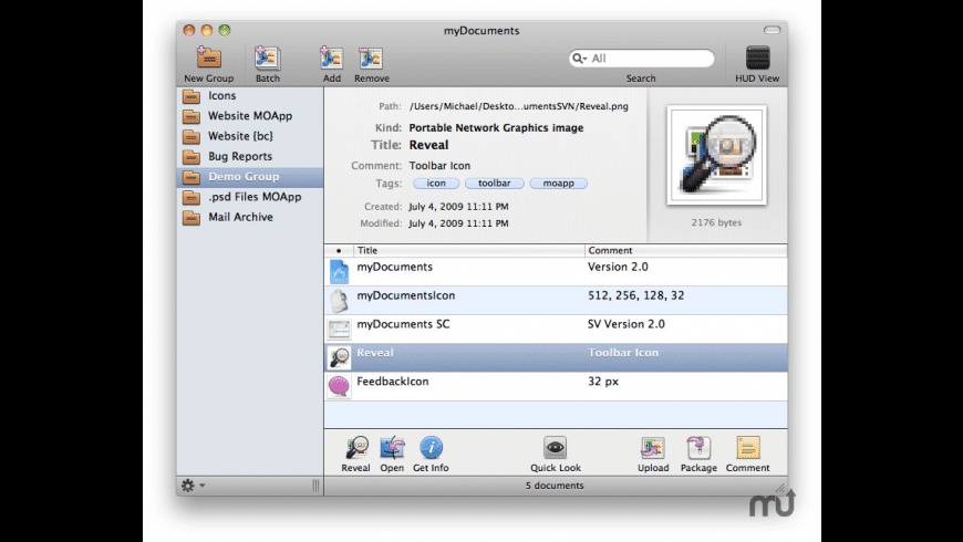 myDocuments for Mac - review, screenshots