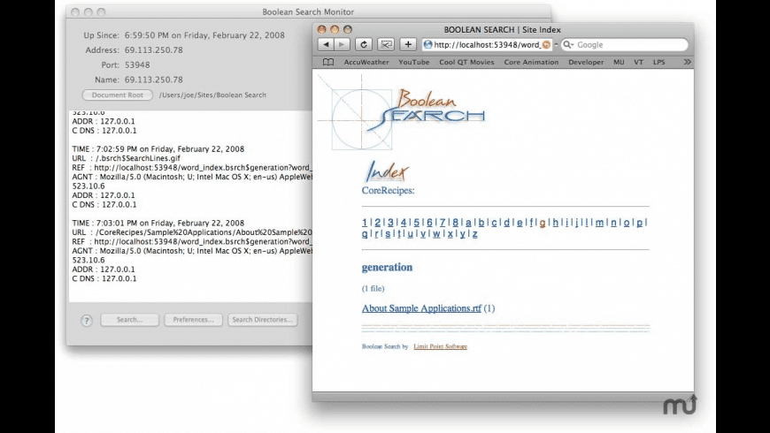 Boolean Search for Mac - review, screenshots