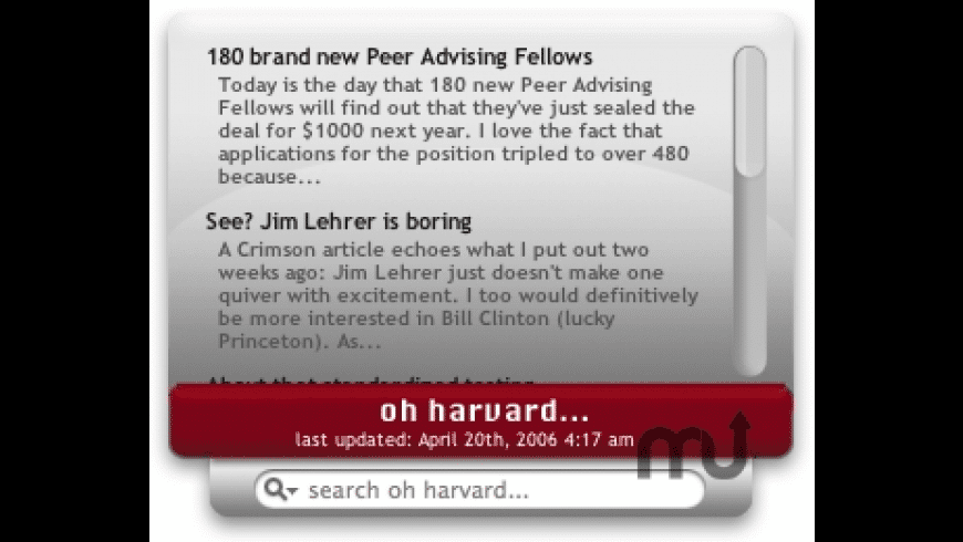 Oh Harvard for Mac - review, screenshots