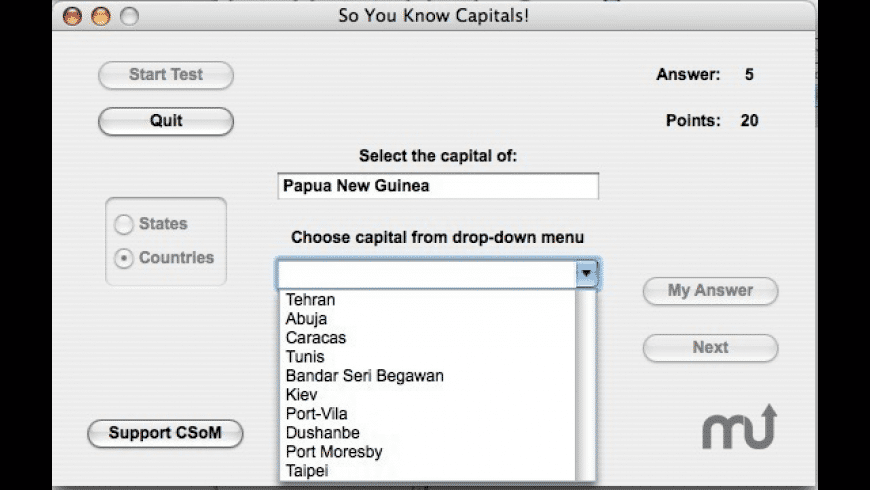 So You Know Capitals! for Mac - review, screenshots