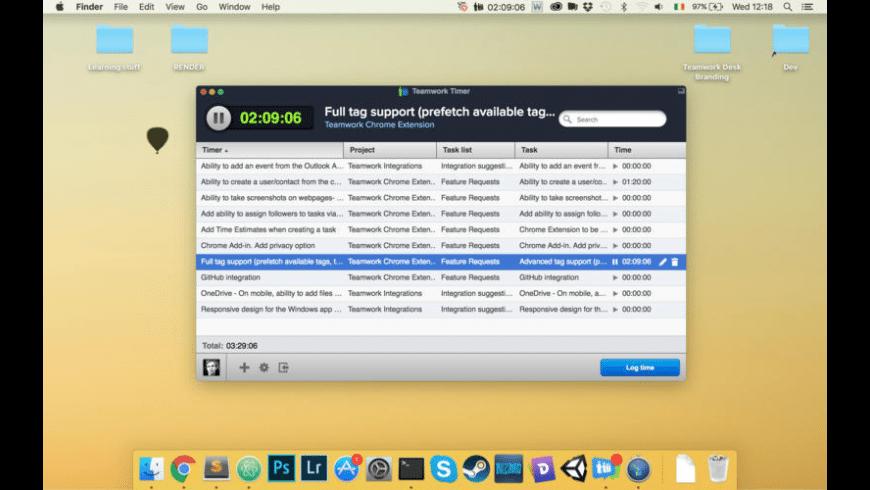 Teamwork Timer for Mac - review, screenshots
