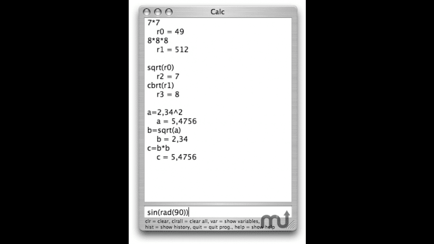 Calc for Mac - review, screenshots