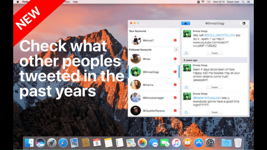 TweetStory for Mac - review, screenshots