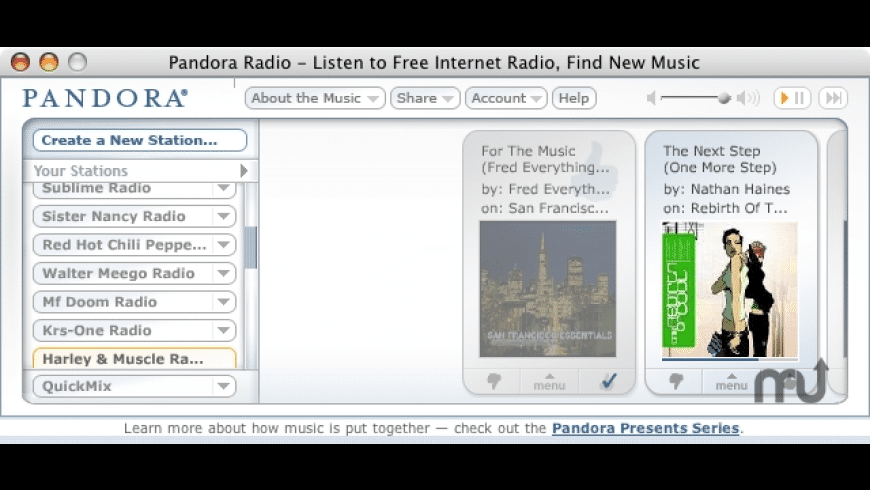 PandoraMan for Mac - review, screenshots