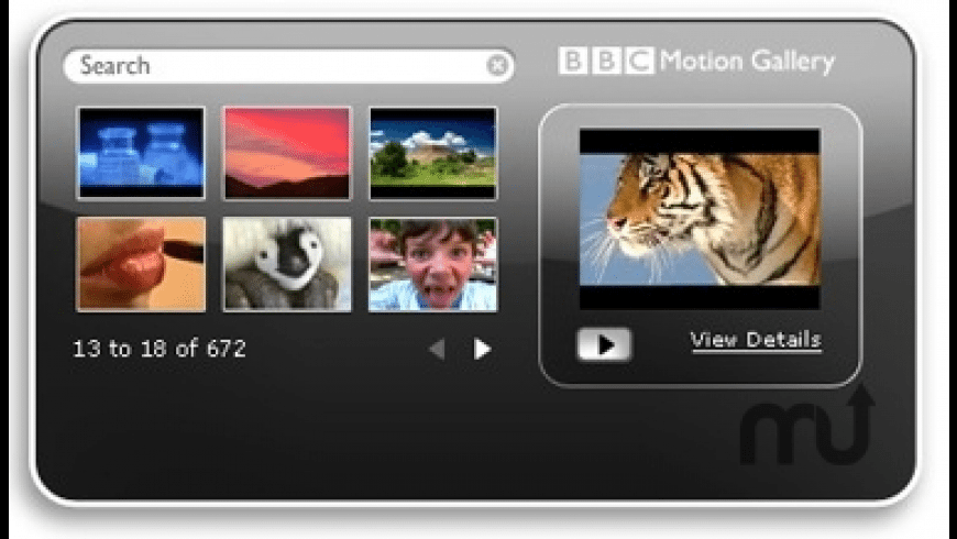 BBC Motion Gallery Search Widget for Mac - review, screenshots