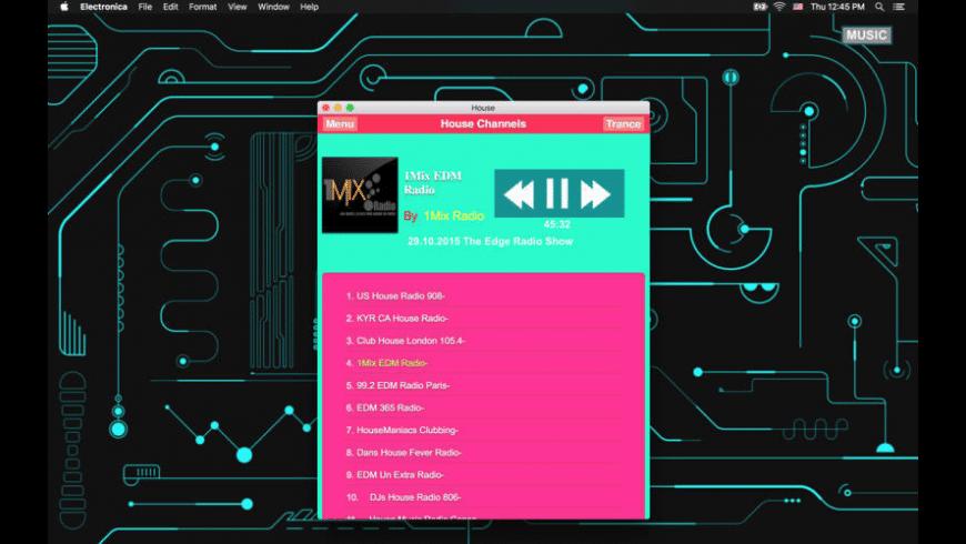 Electronica for Mac - review, screenshots