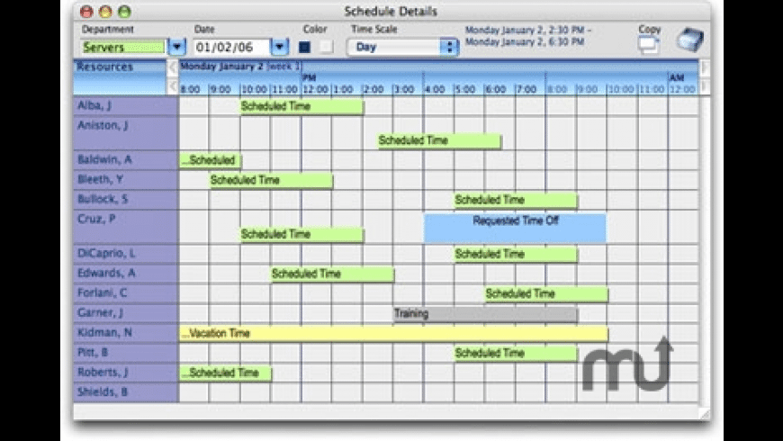 Xpress Schedule for Mac - review, screenshots