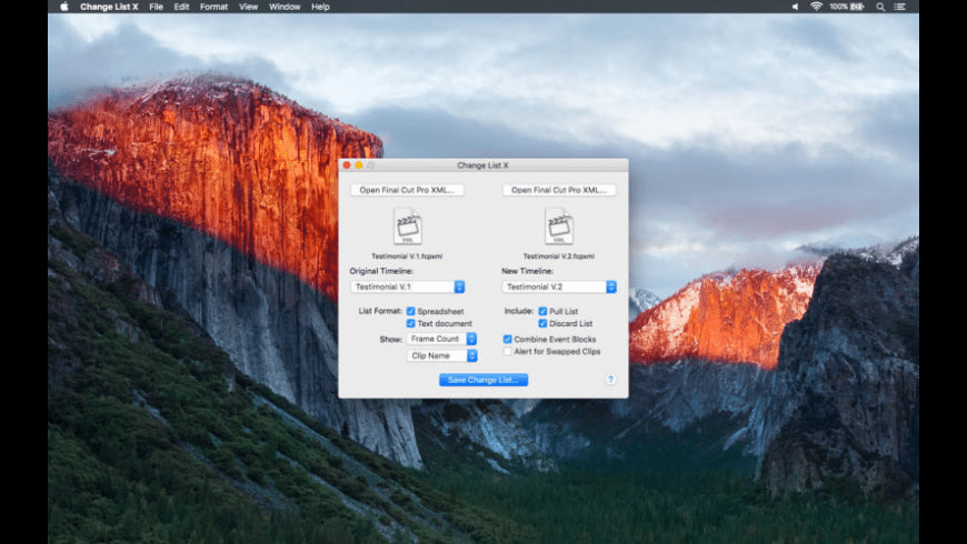 Change List X for Mac - review, screenshots
