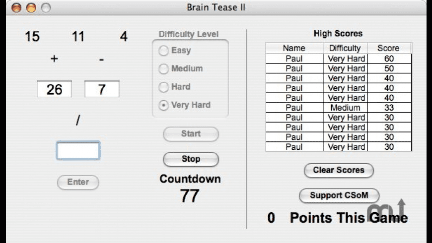 Brain Tease II for Mac - review, screenshots