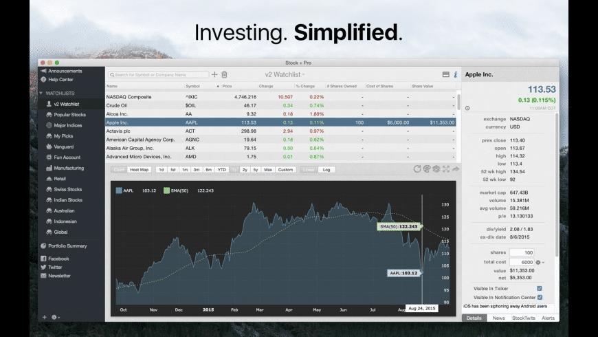 Stock + Pro for Mac - review, screenshots