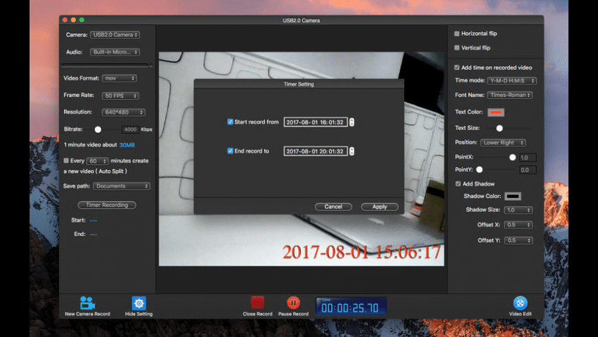 Camera Record Pro for Mac - review, screenshots