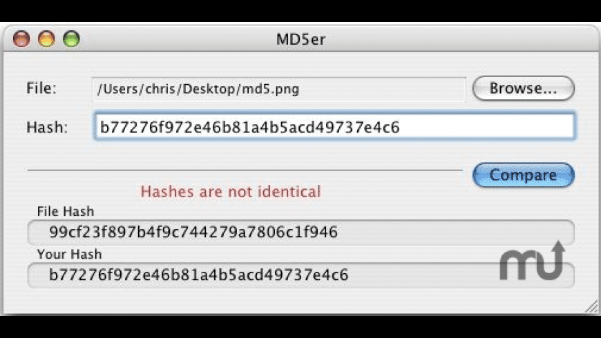 MD5er for Mac - review, screenshots