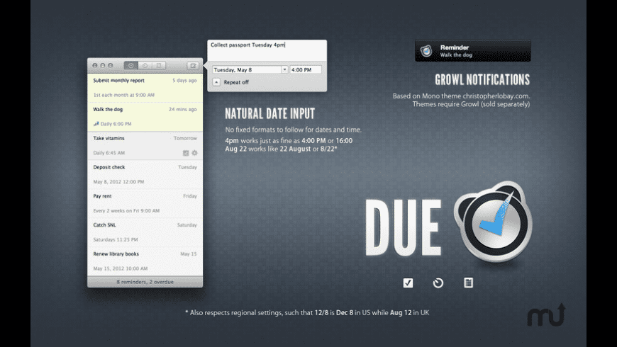 Due for Mac - review, screenshots