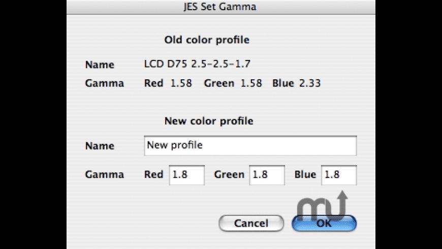 JES Set Monitor Gamma for Mac - review, screenshots